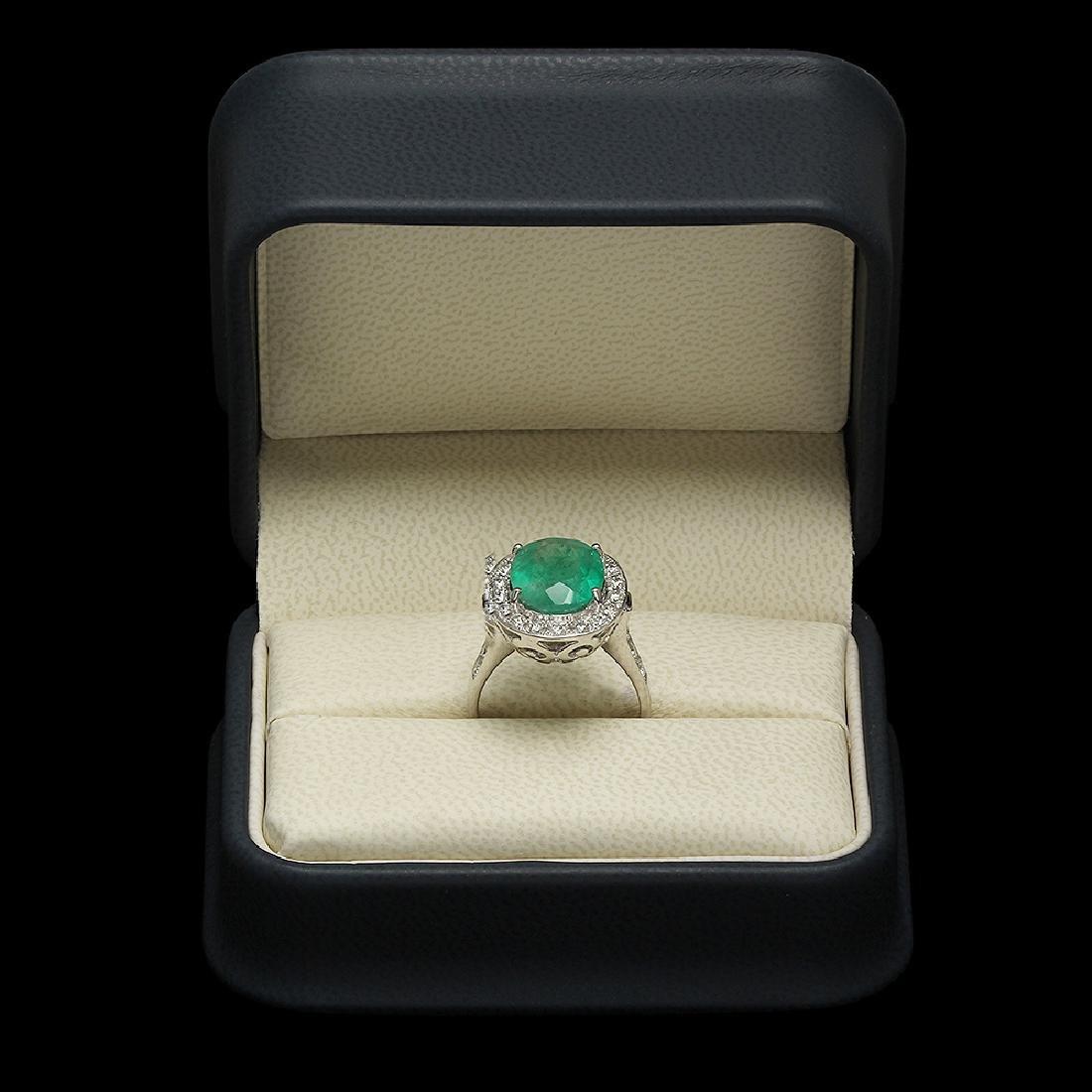 14K Gold 3.50ct Emerald 0.70ct Diamond Ring - 3