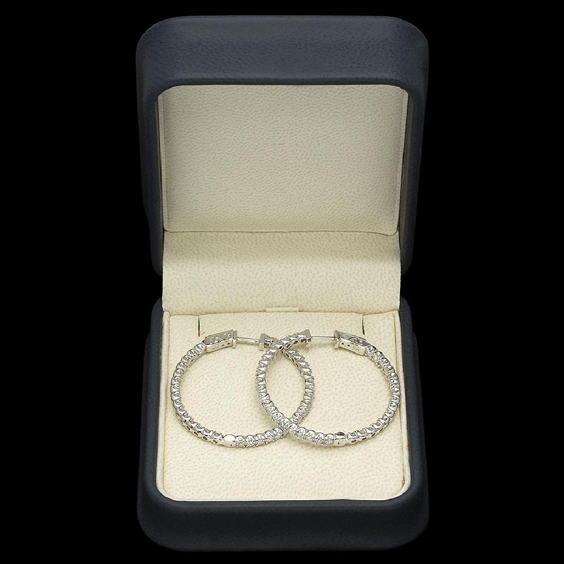 14K Gold 2.52ct Diamond Earrings - 2