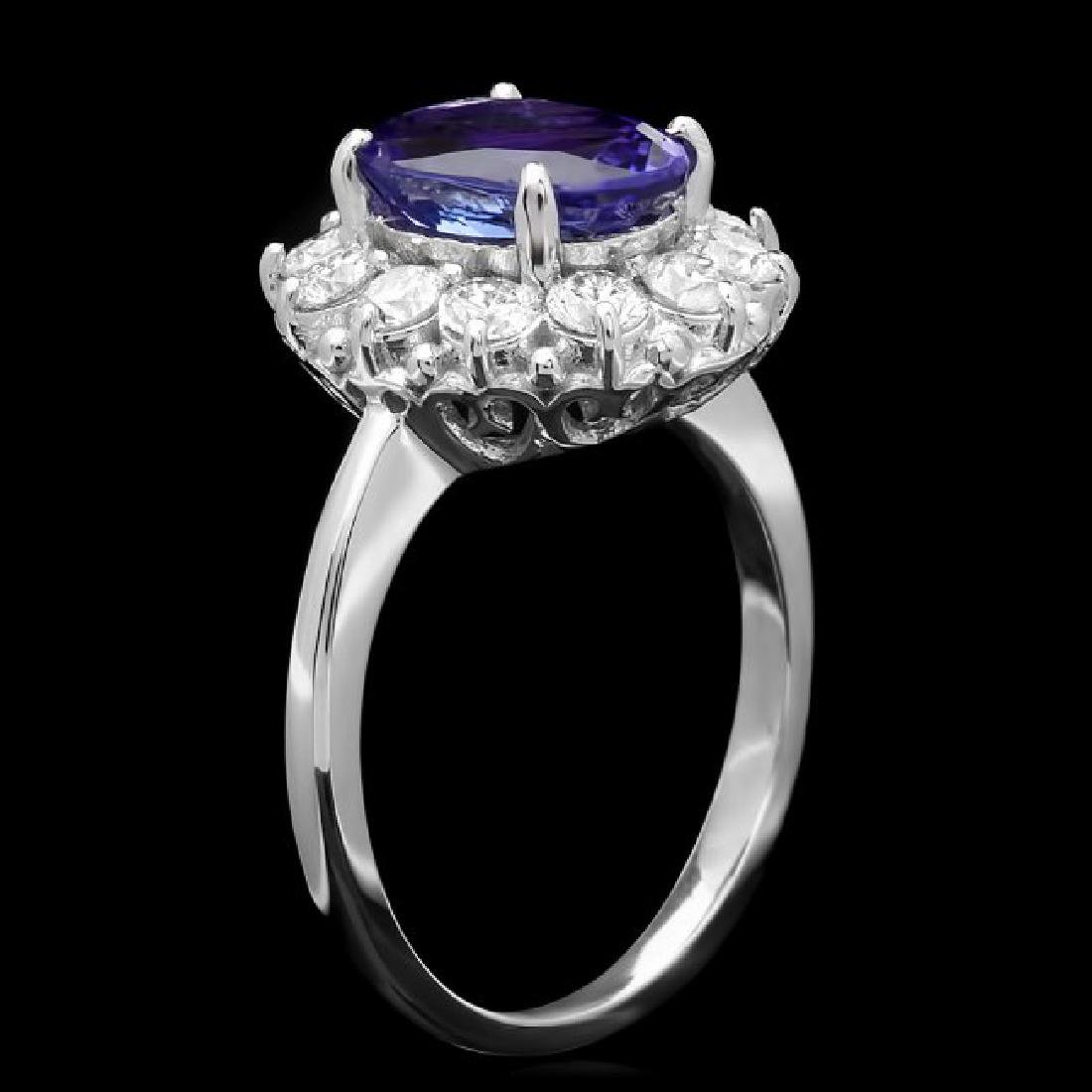 14k Gold 2.60ct Tanzanite 1.00ct Diamond Ring - 2