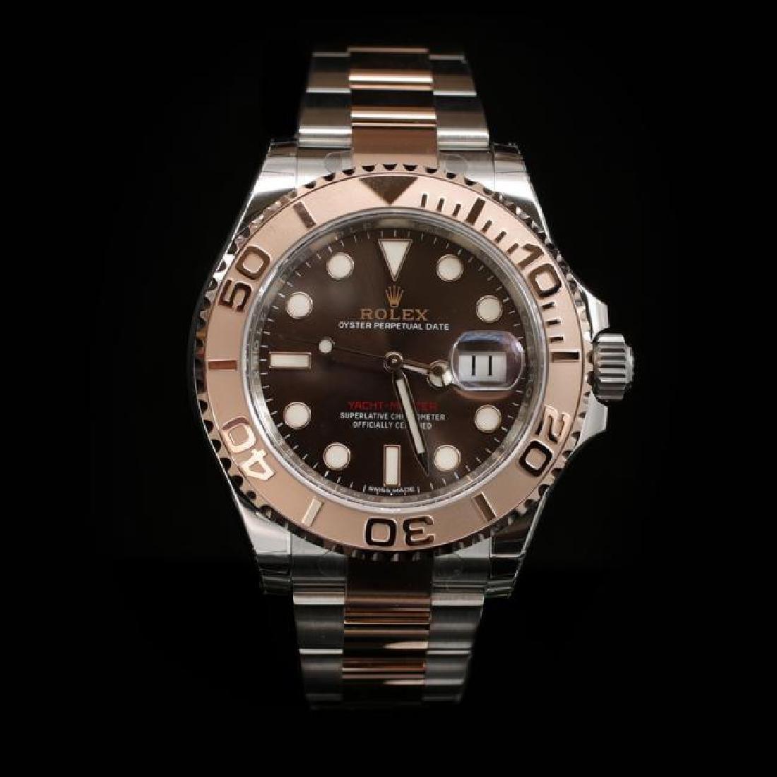 Rolex YachtMaster SS 40mm Mens Wristwatch