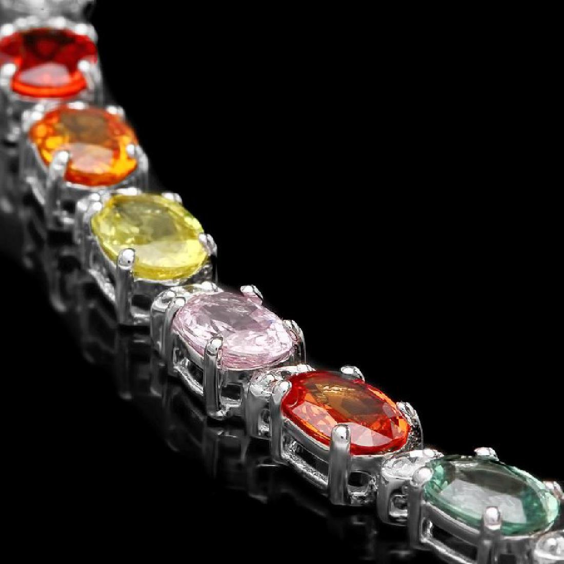 14k Gold 12.17ct Sapphire 0.52ct Diamond Bracelet - 2