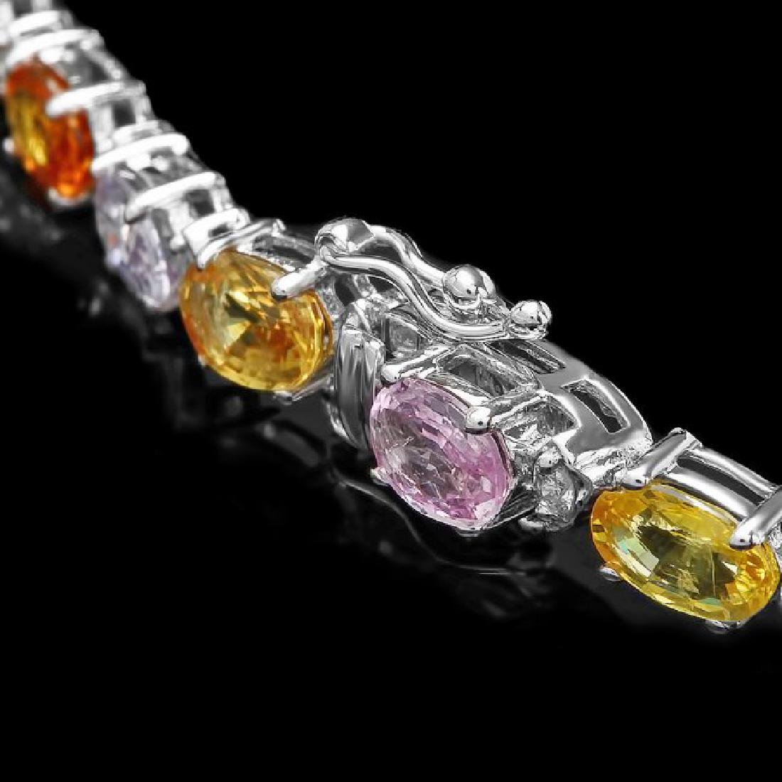 14k Gold 12.17ct Sapphire 0.52ct Diamond Bracelet - 3