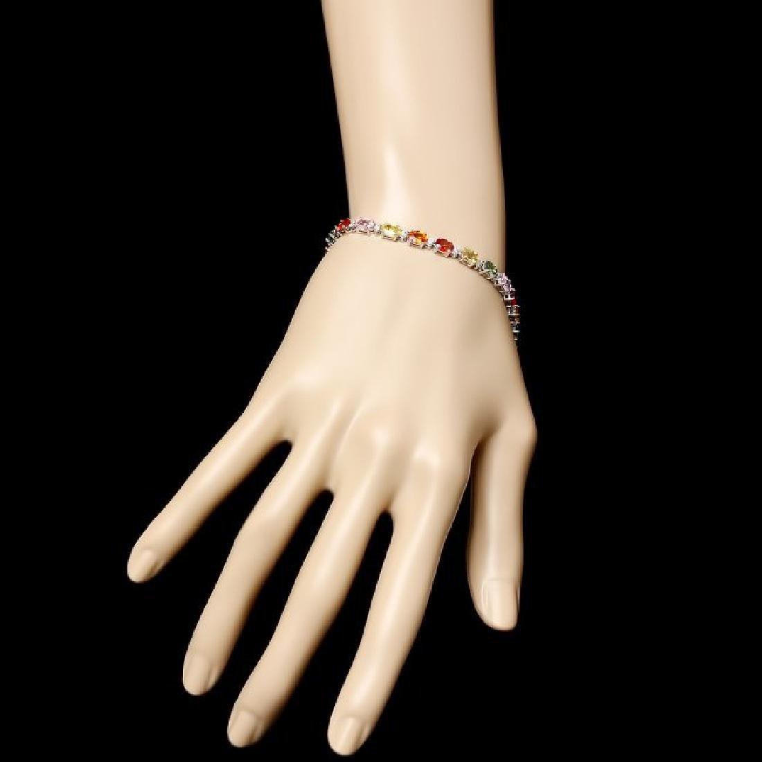 14k Gold 12.17ct Sapphire 0.52ct Diamond Bracelet - 5