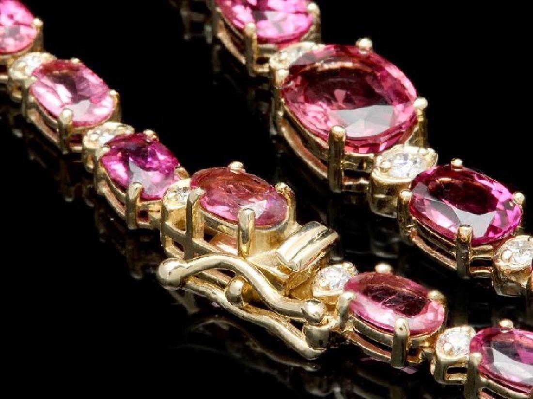 14k 26.10ct Tourmaline 1.60ct Diamond Necklace - 3