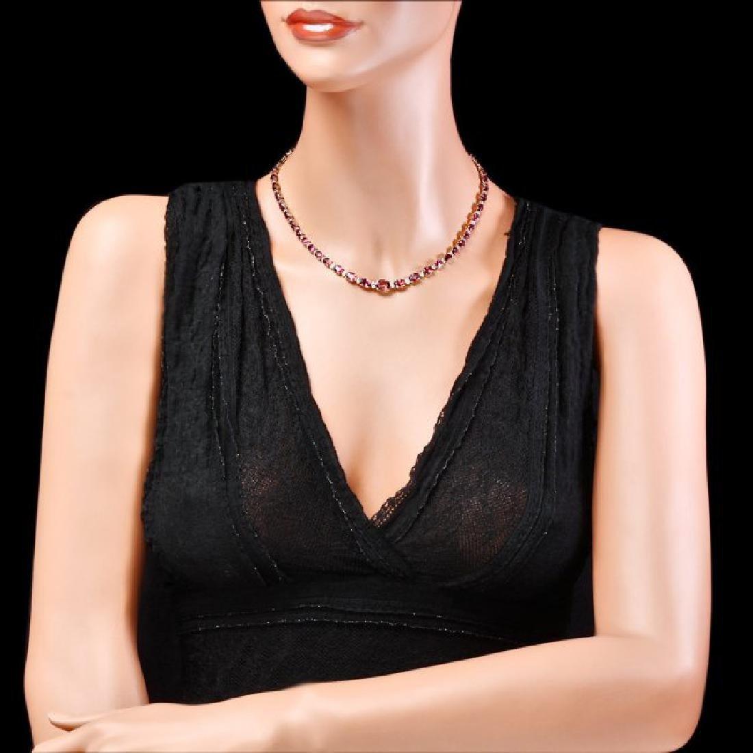 14k 26.10ct Tourmaline 1.60ct Diamond Necklace - 4