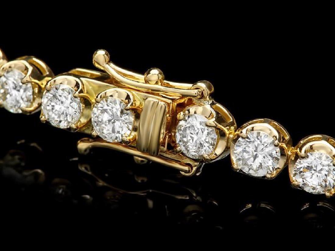 18k Yellow Gold 7.60ct Diamond Bracelet - 2