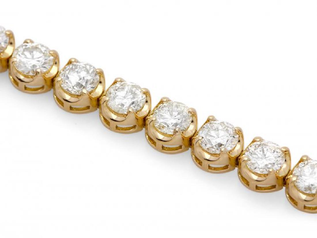 18k Yellow Gold 7.60ct Diamond Bracelet - 3