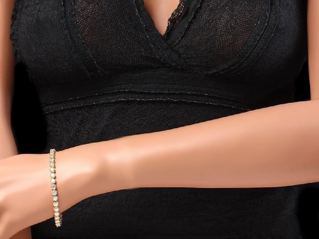 18k Yellow Gold 7.60ct Diamond Bracelet - 4
