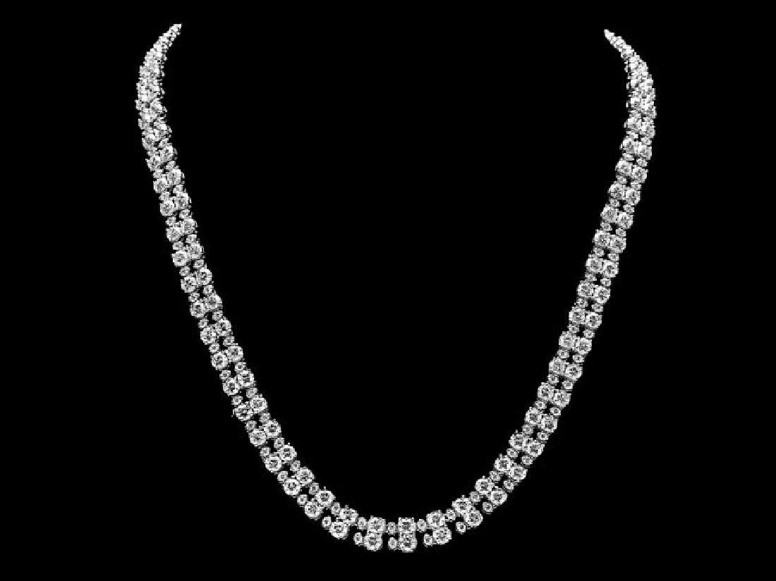 18k White Gold 24ct Diamond Necklace - 3