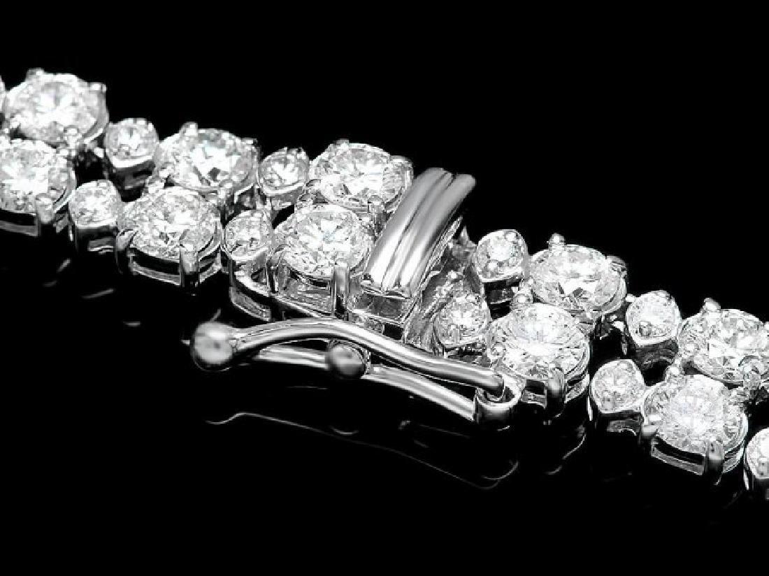 18k White Gold 24ct Diamond Necklace - 4