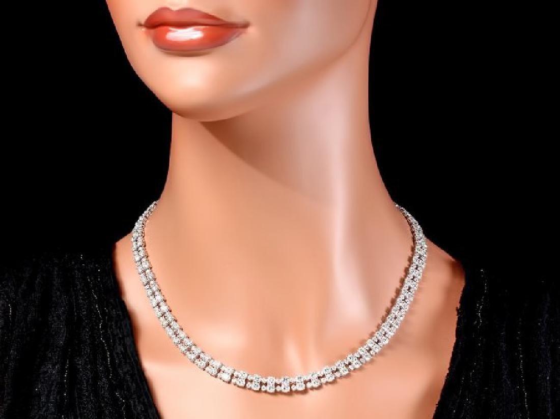 18k White Gold 24ct Diamond Necklace - 5