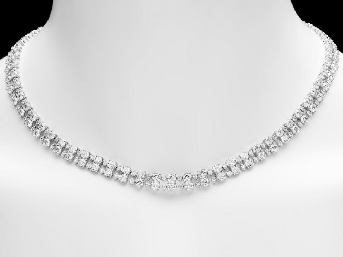 18k White Gold 24ct Diamond Necklace - 6