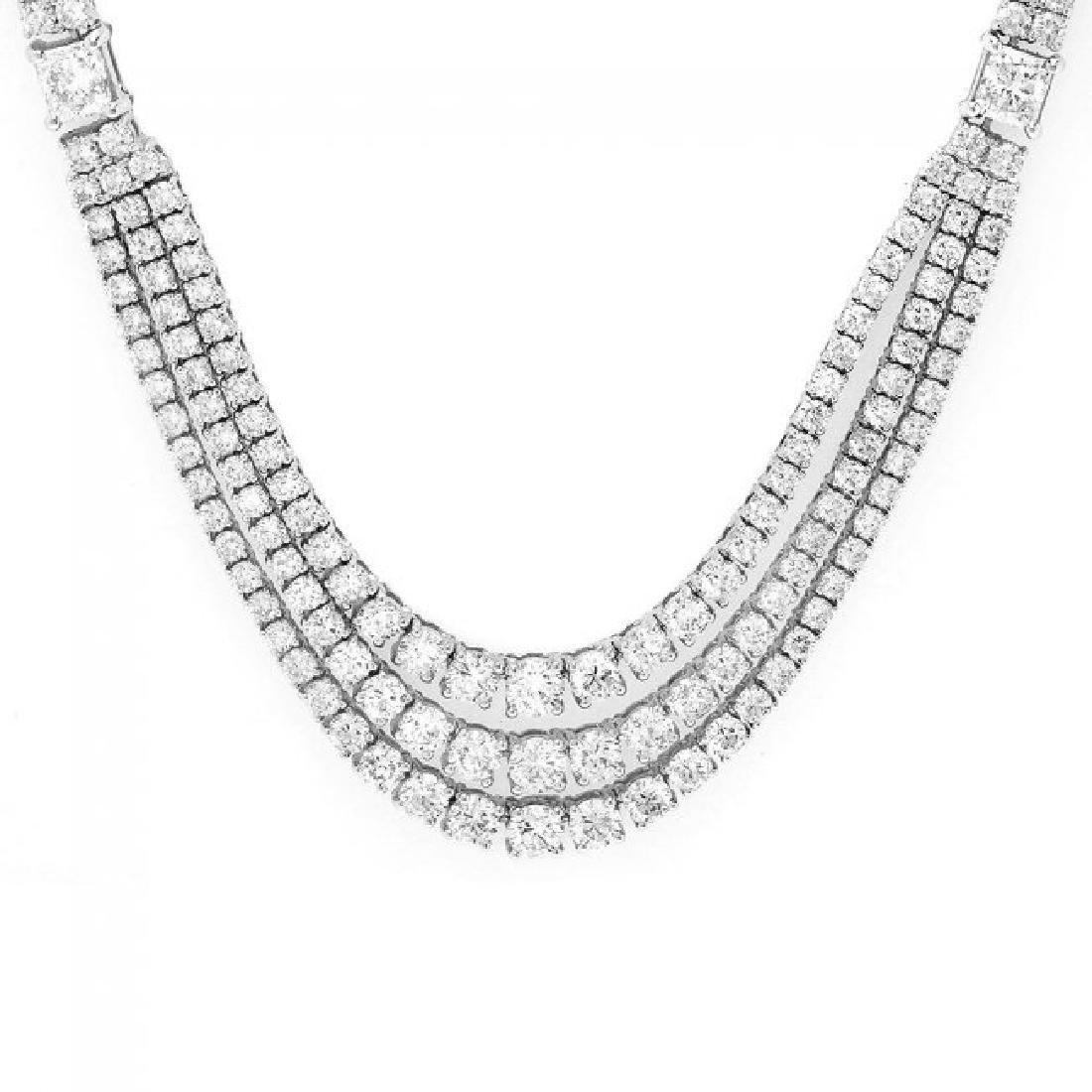 18k White Gold 23ct Diamond Necklace - 6