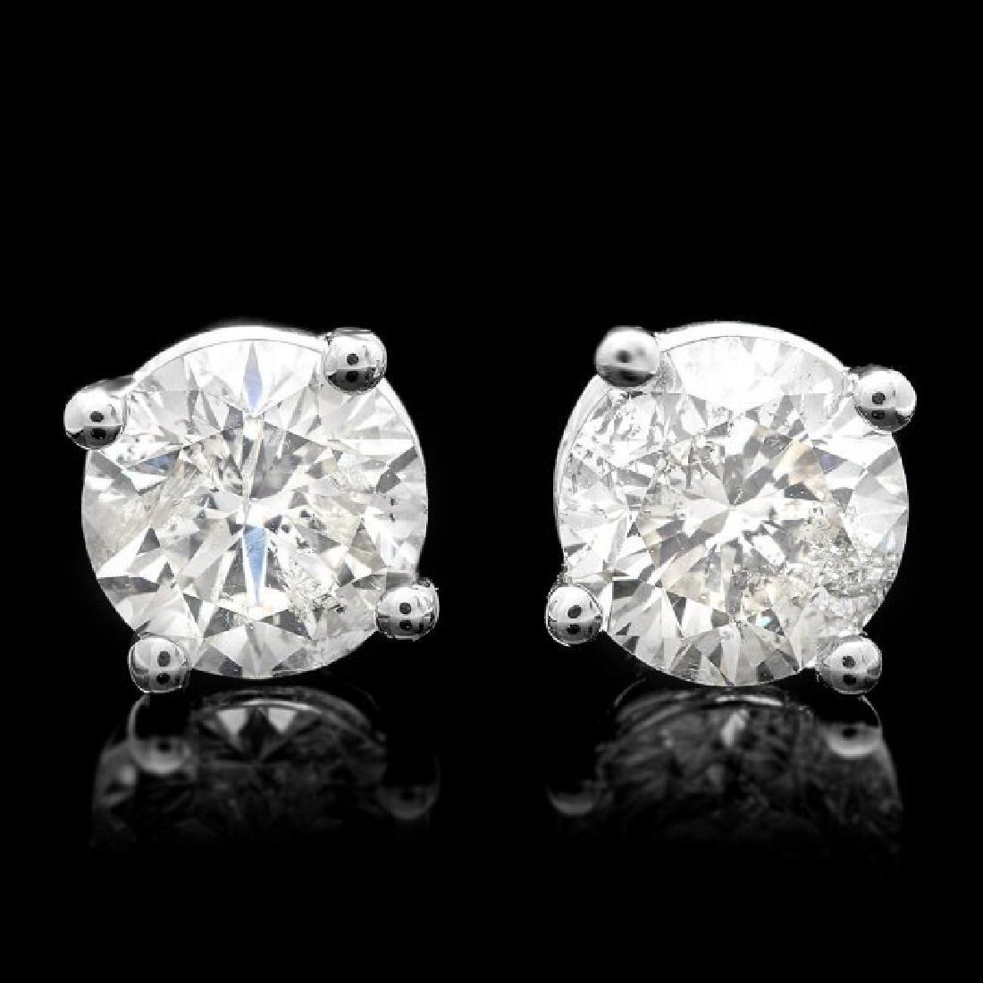 14k White Gold 1.70ct Diamond Earrings