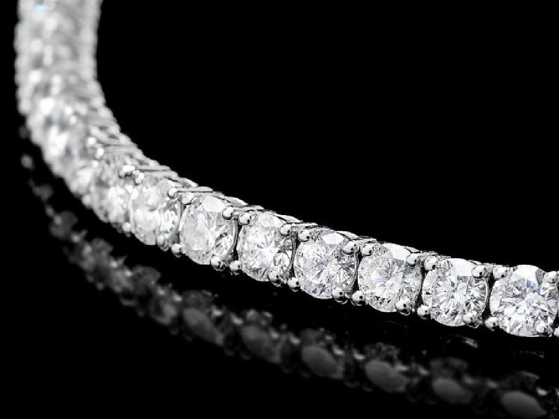 18k White Gold 8.00ct Diamond Bracelet - 2