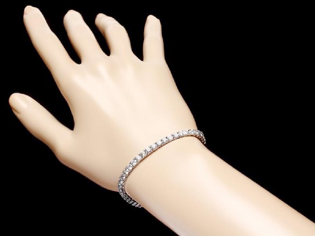 18k White Gold 8.00ct Diamond Bracelet - 5
