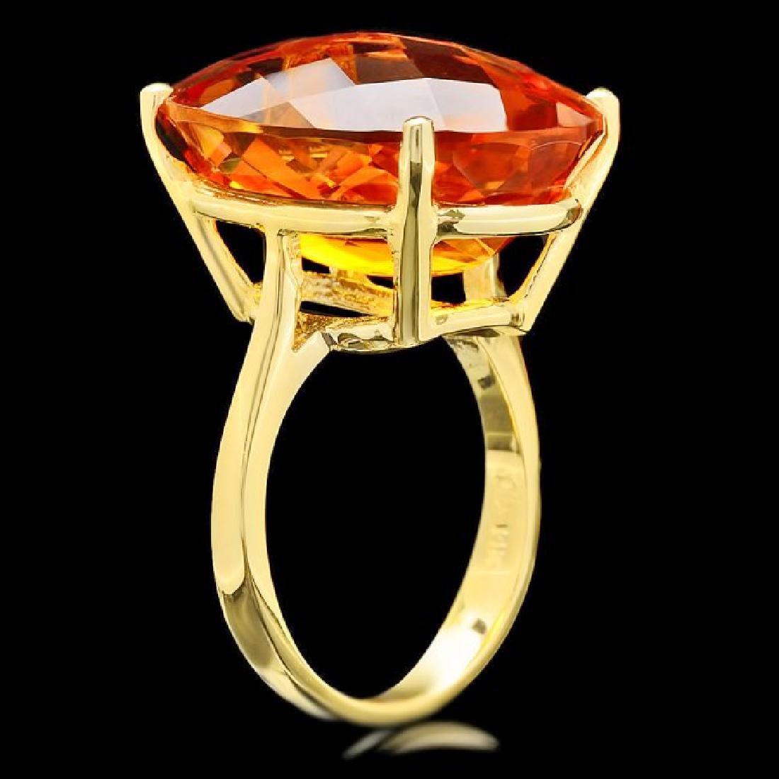 14k Yellow Gold 22.00ct Citrine Ring - 3