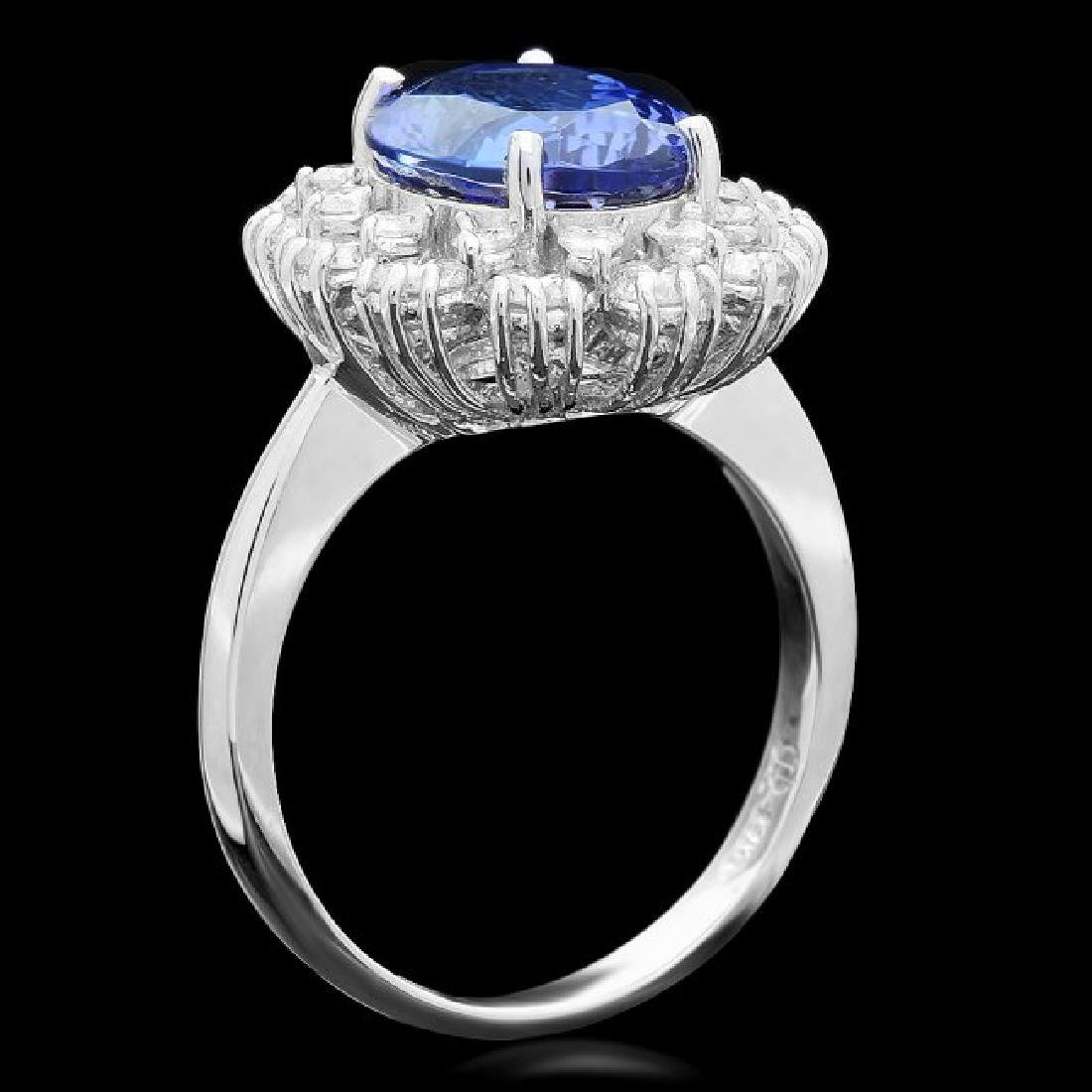 14k Gold 4.00ct Tanzanite 1.30ct Diamond Ring - 2