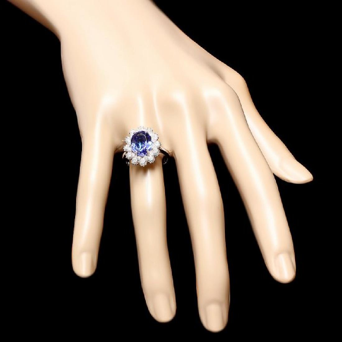 14k Gold 4.00ct Tanzanite 1.30ct Diamond Ring - 3