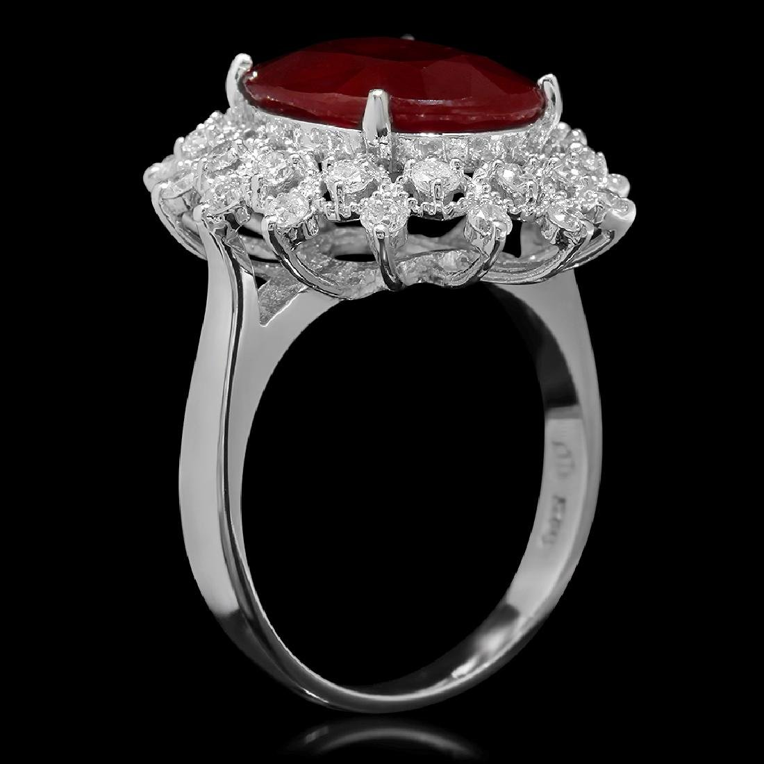 14K Gold 6.06ct Ruby 0.71ct Diamond Ring - 2