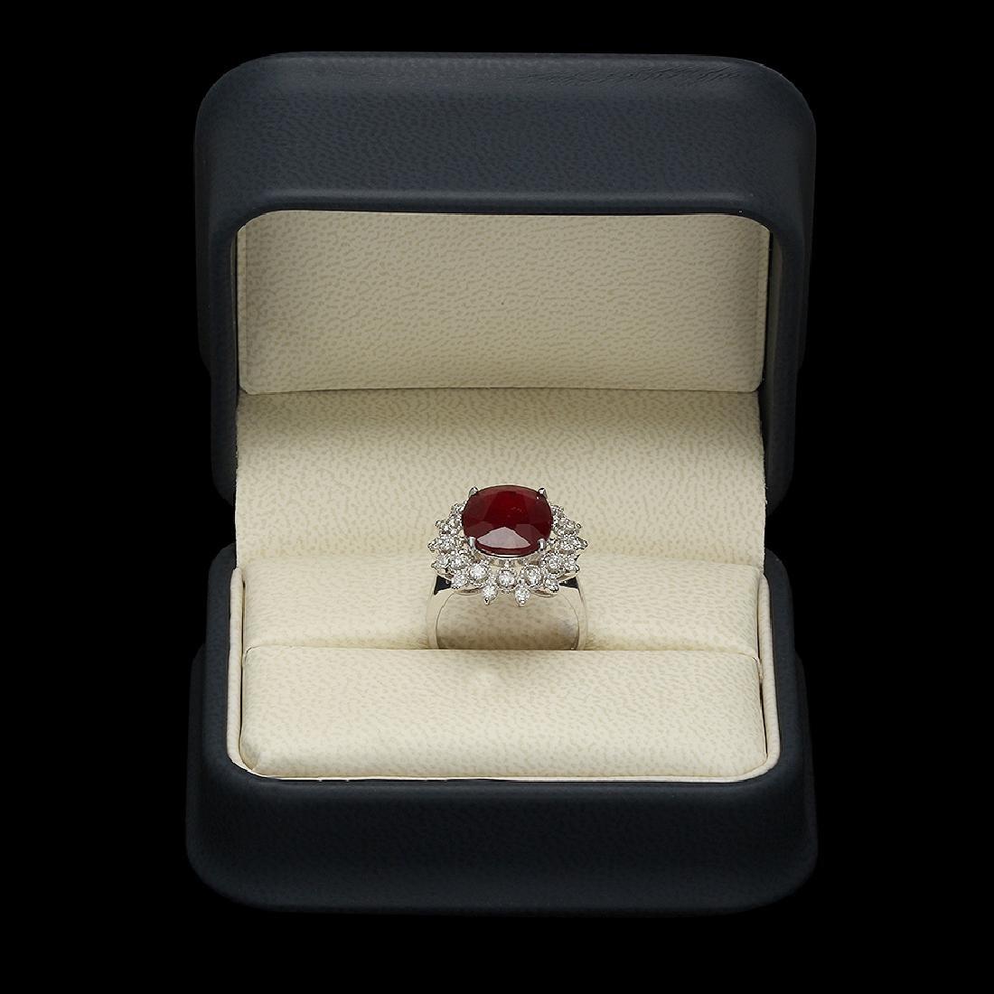 14K Gold 6.06ct Ruby 0.71ct Diamond Ring - 3