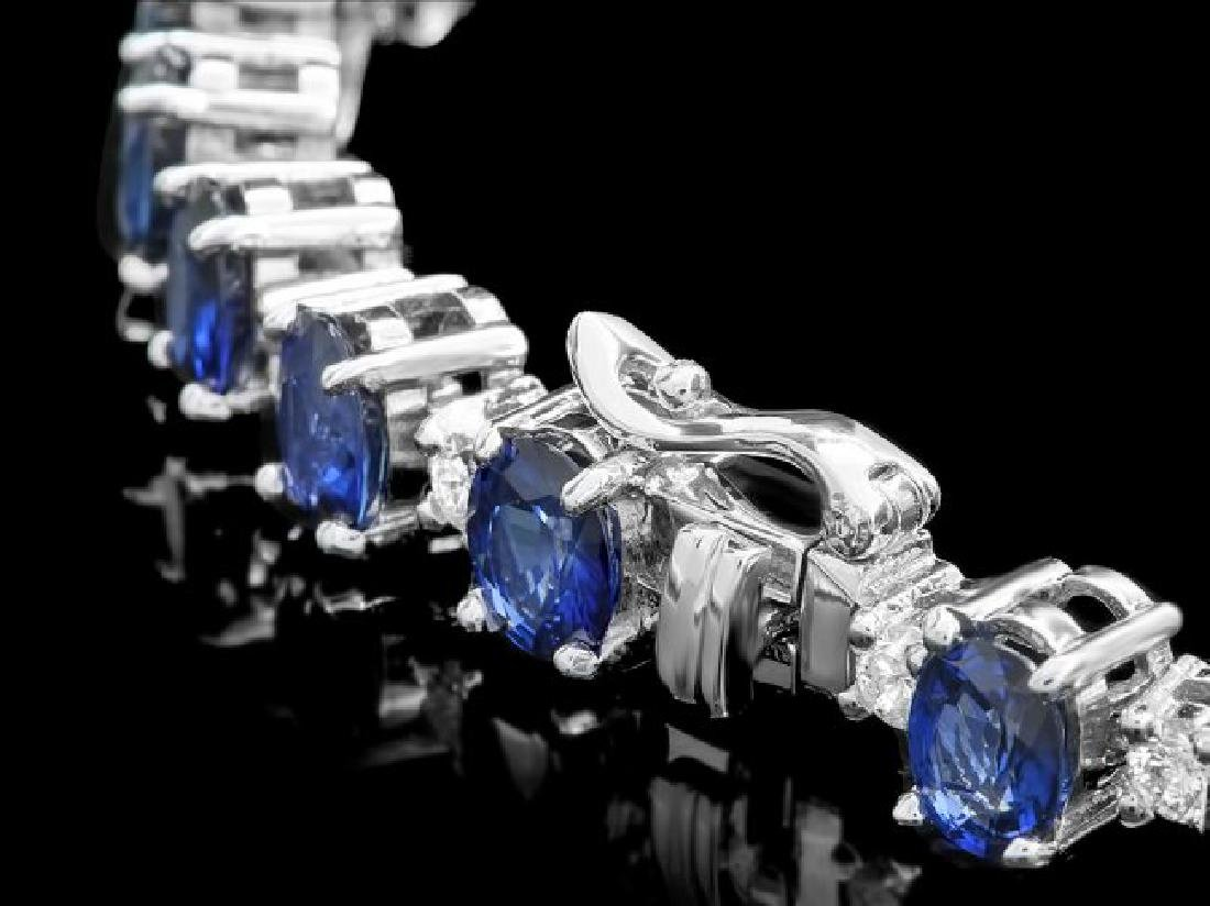 14k Gold 19.00ct Sapphire 2.00ct Diamond Bracelet - 3