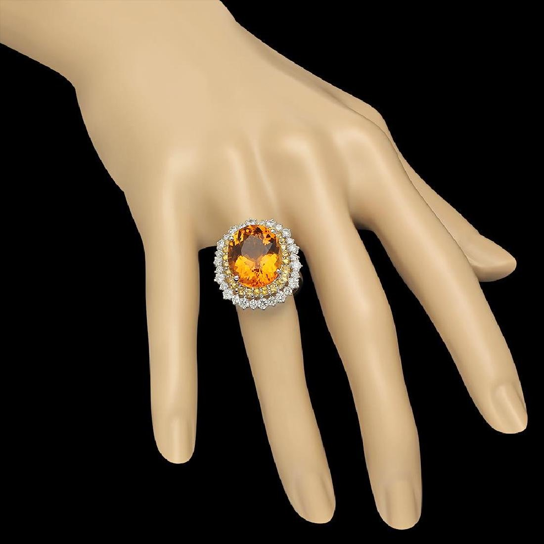 14K Gold 10.40ct Citrine 1.00ct Sapphire 1.39ct Diamond - 3