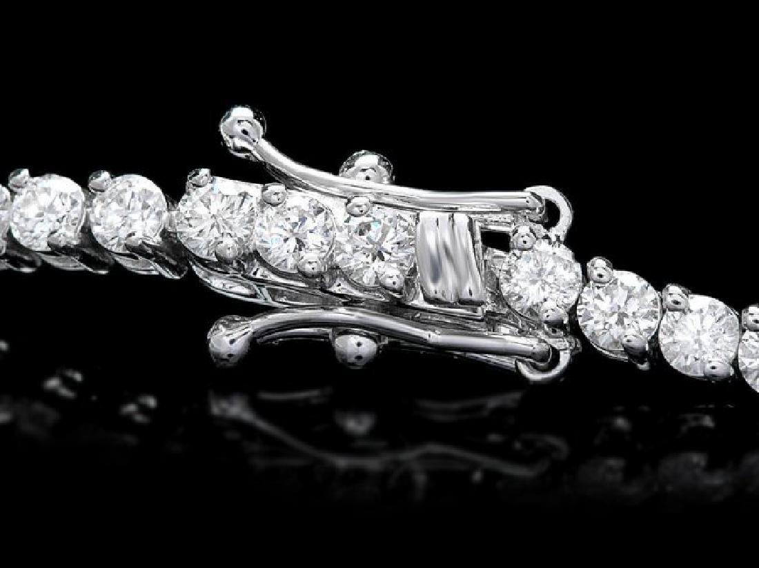 18k White Gold 3.65ct Diamond Bracelet - 2