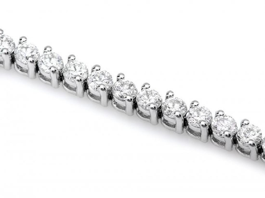 18k White Gold 3.65ct Diamond Bracelet - 3