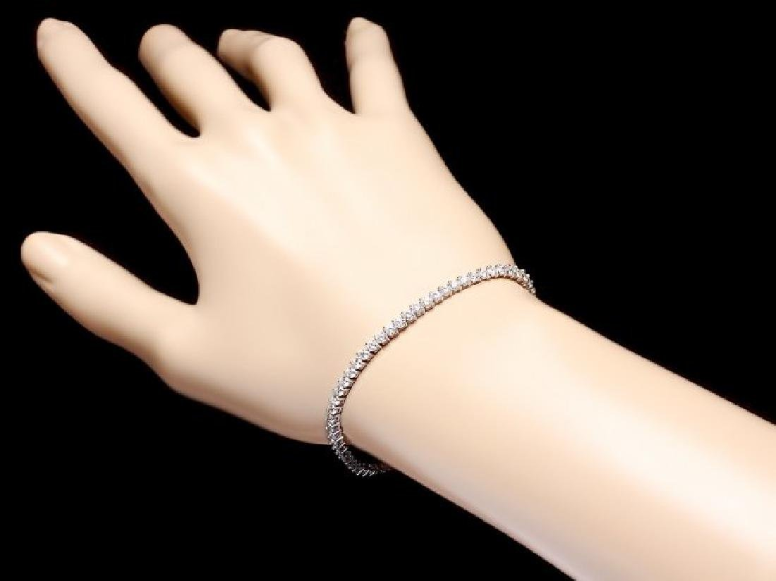 18k White Gold 3.65ct Diamond Bracelet - 5