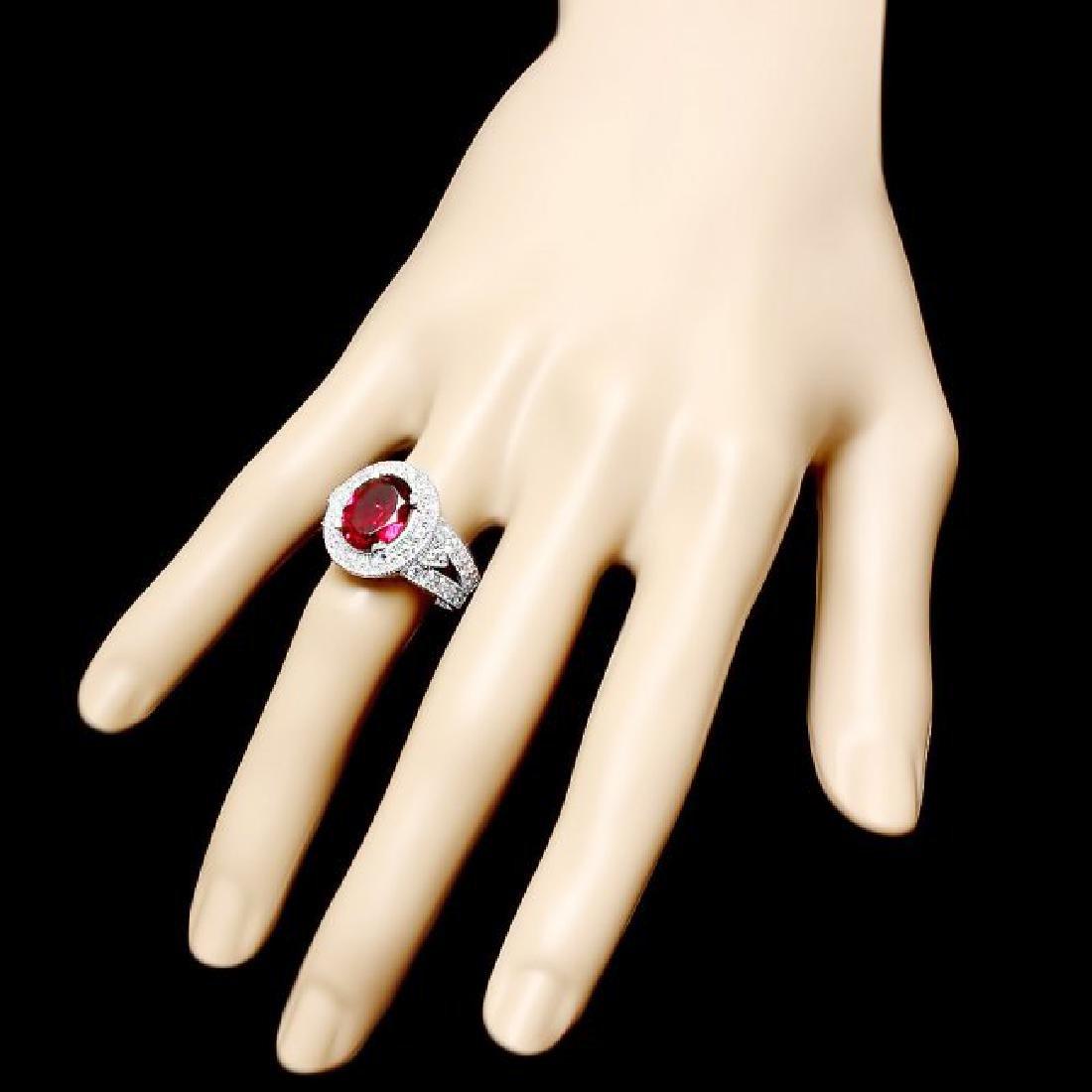 14k Gold 3.20ct Tourmaline 1.35ct Diamond Ring - 3