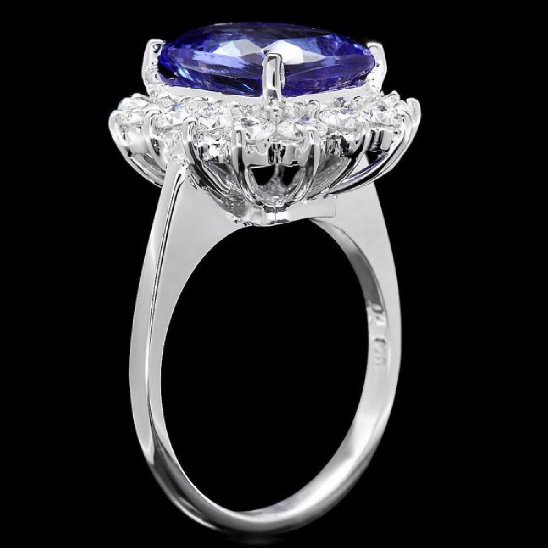 14k Gold 5.00ct Tanzanite 1.20ct Diamond Ring - 3