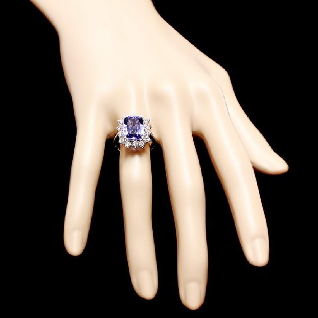 14k Gold 5.00ct Tanzanite 1.20ct Diamond Ring - 4