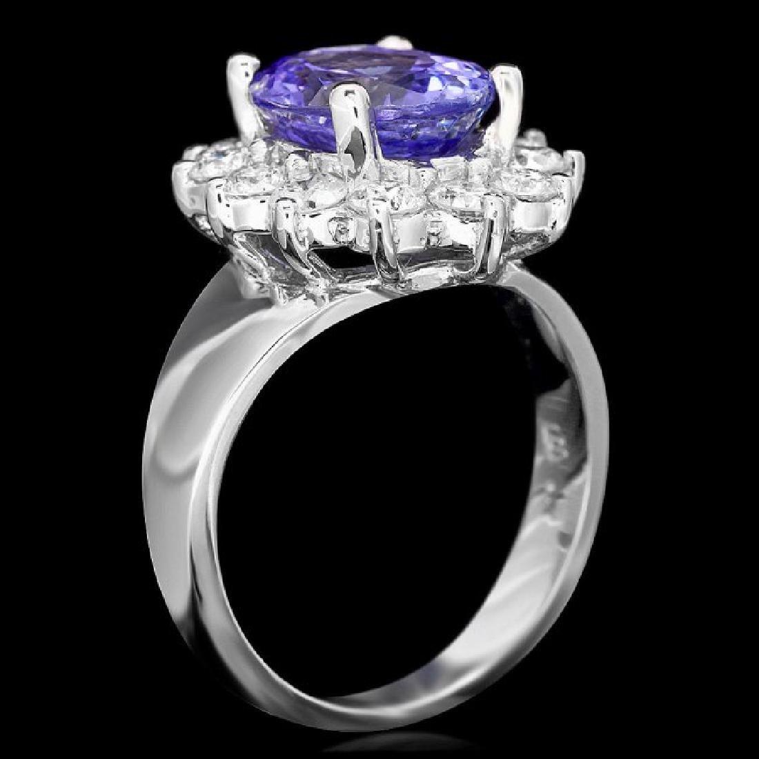 14k Gold 3.50ct Tanzanite 1.30ct Diamond Ring - 3