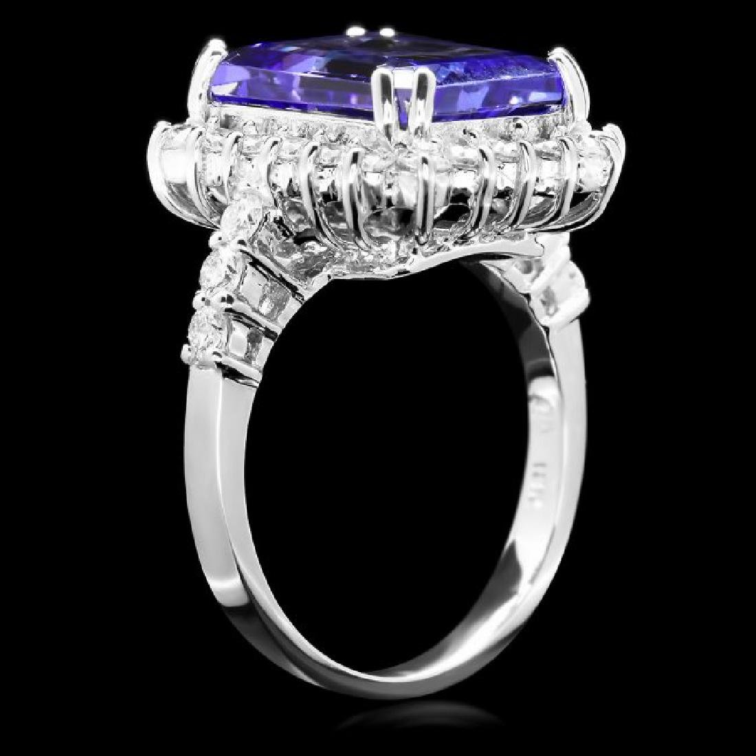 18k Gold 6.50ct Tanzanite 1.15ct Diamond Ring - 3