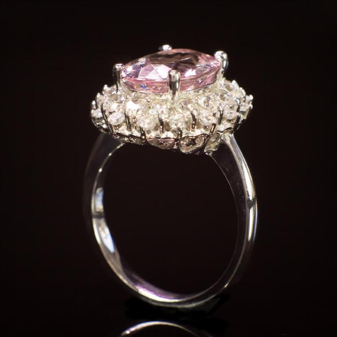 14K Gold 3.84ct Morganite 1.50ct Diamond Ring - 3