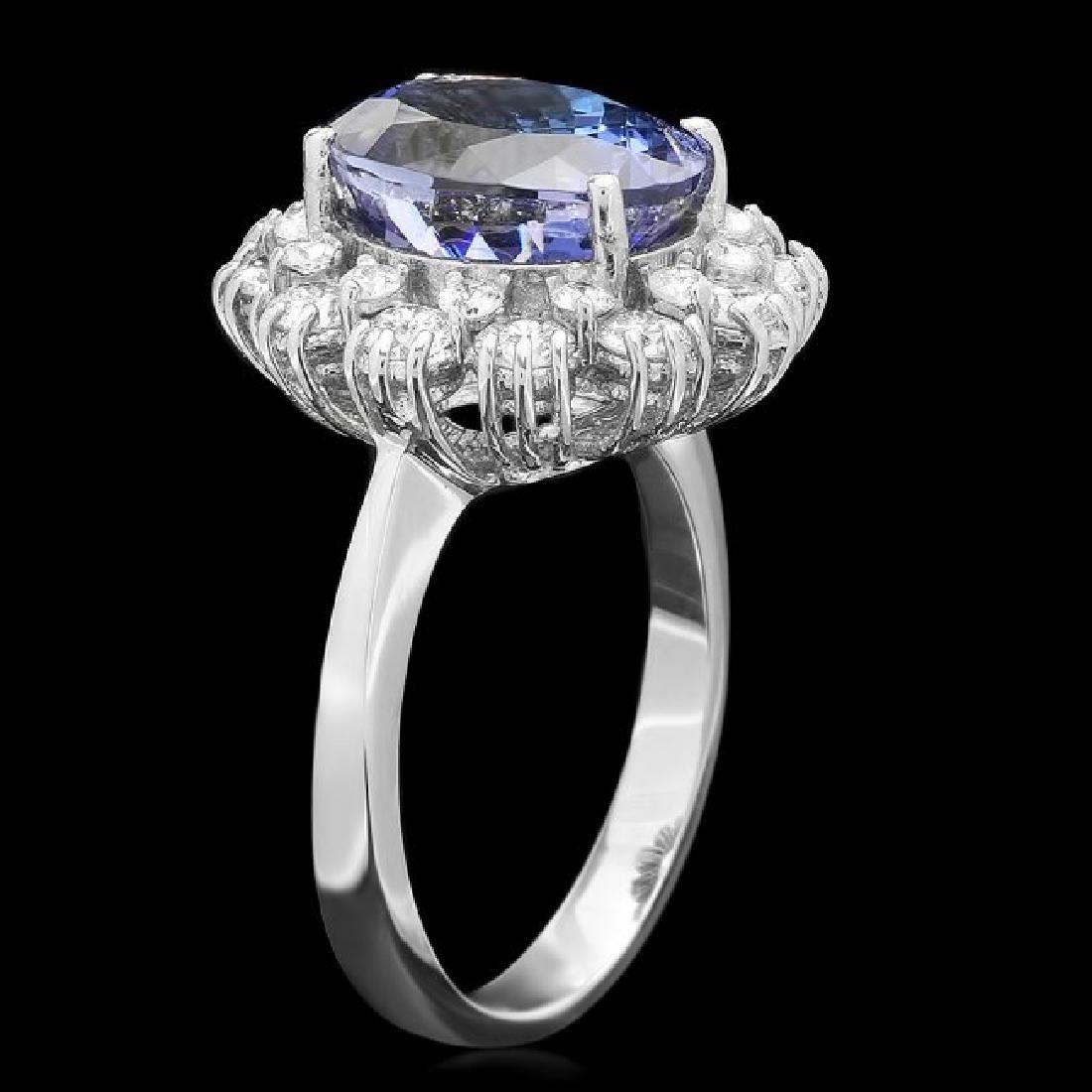 14k Gold 5.00ct Tanzanite 1.40ct Diamond Ring - 2