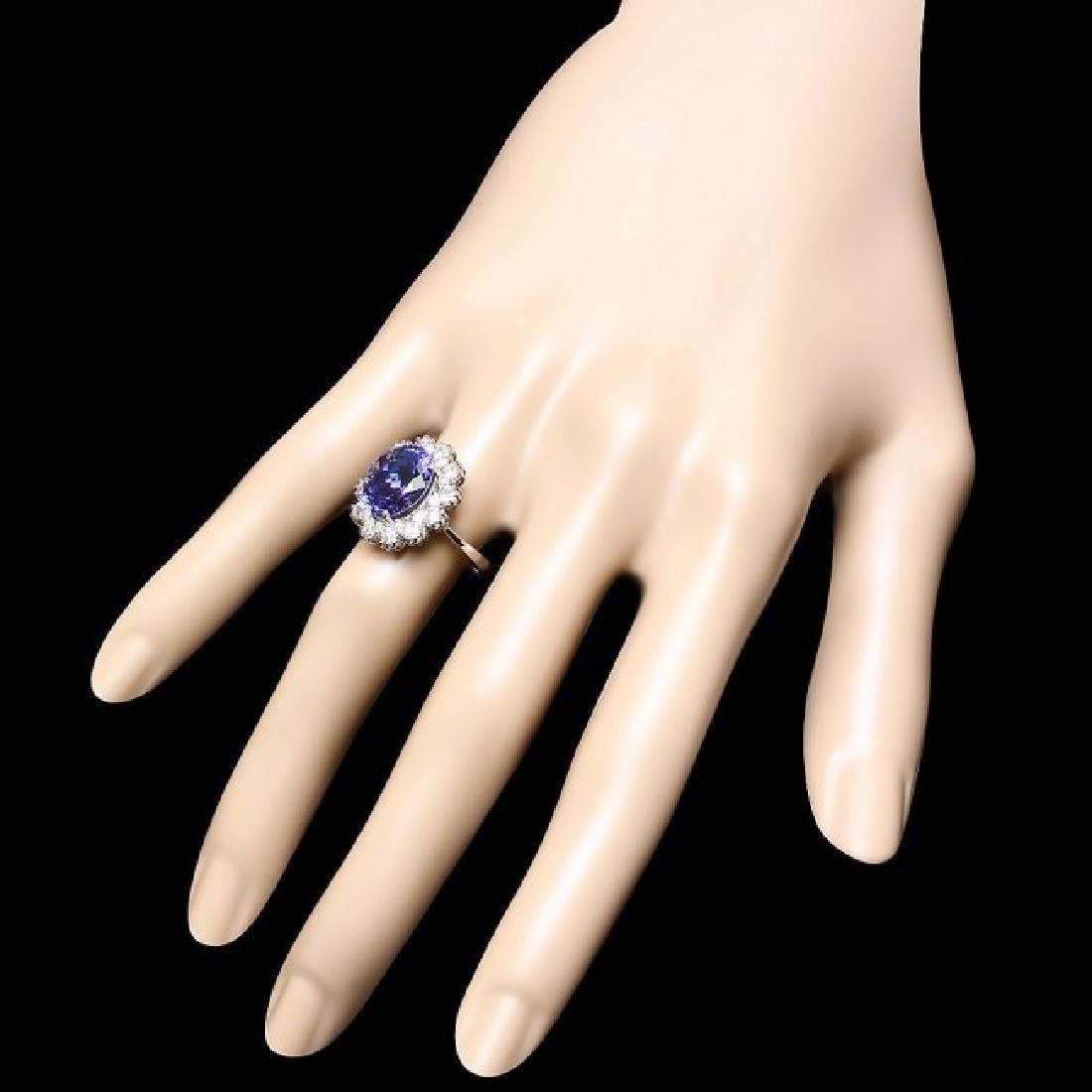 14k Gold 5.00ct Tanzanite 1.40ct Diamond Ring - 3