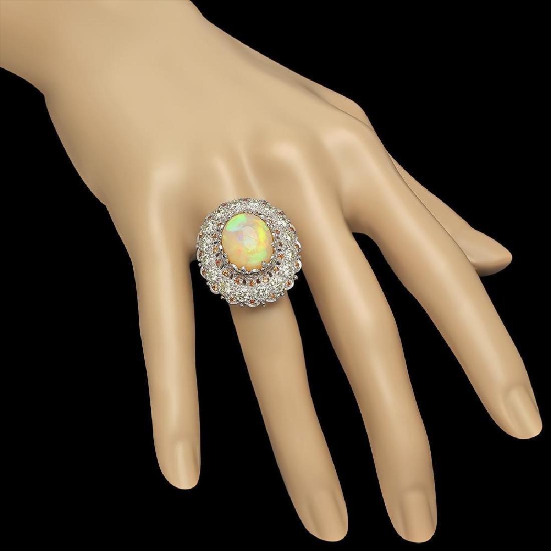 14K Gold 7.12ct Opal 0.48ct Sapphire 2.20ct Diamond - 3