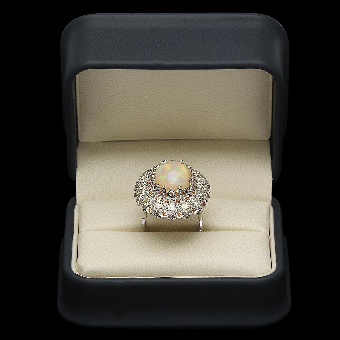 14K Gold 7.12ct Opal 0.48ct Sapphire 2.20ct Diamond - 4