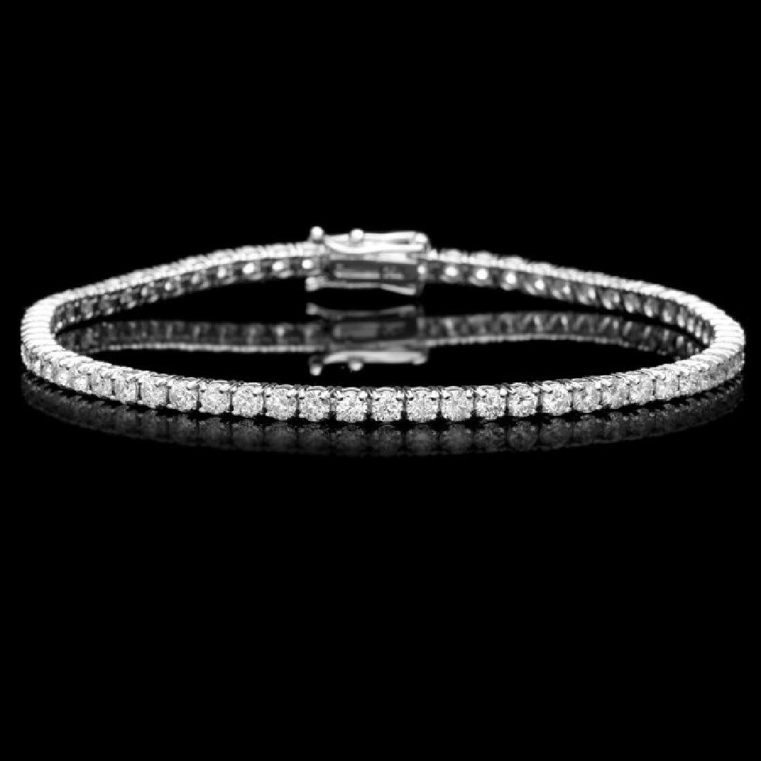 18k White Gold 4.65ct Diamond Bracelet