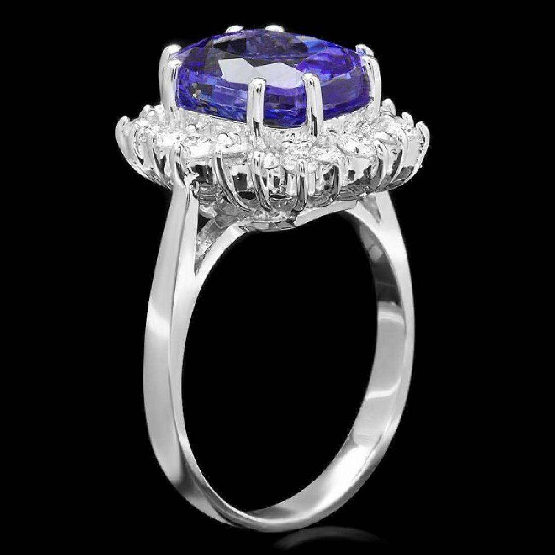 14k Gold 5.00ct Tanzanite 0.90ct Diamond Ring - 2