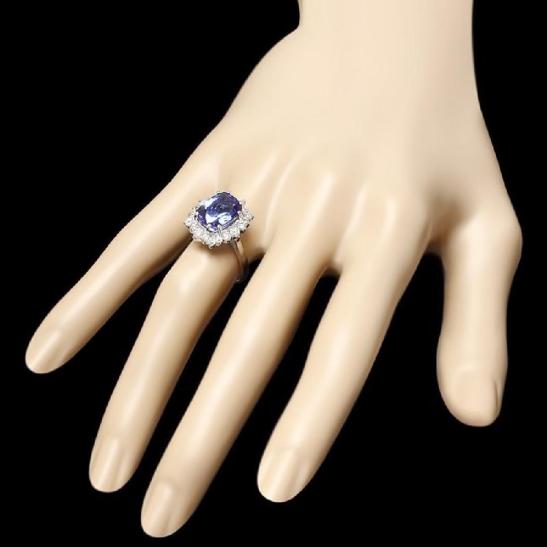 14k Gold 5.00ct Tanzanite 0.90ct Diamond Ring - 3