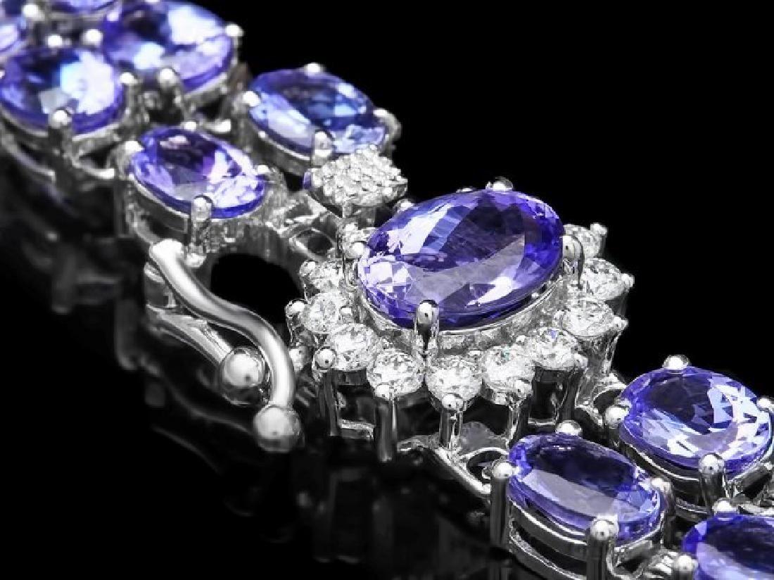 14k 22.35ct Tanzanite 0.45ct Diamond Bracelet