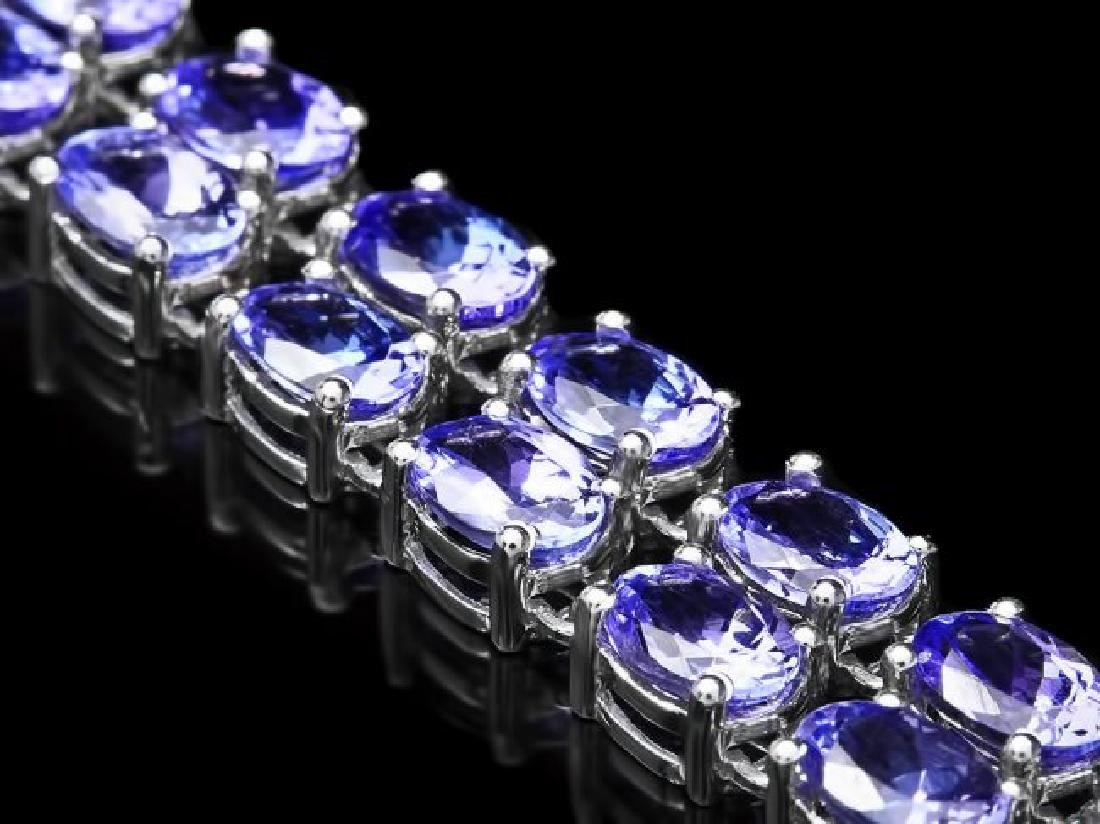 14k 22.35ct Tanzanite 0.45ct Diamond Bracelet - 3