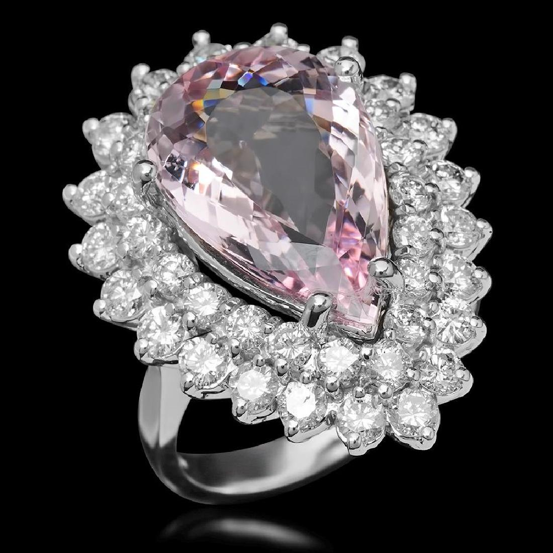 14K Gold 7.52ct Morganite 2.70ct Diamond Ring