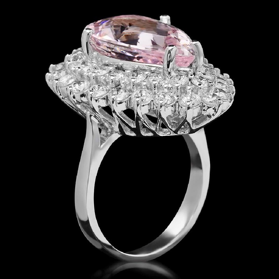 14K Gold 7.52ct Morganite 2.70ct Diamond Ring - 2