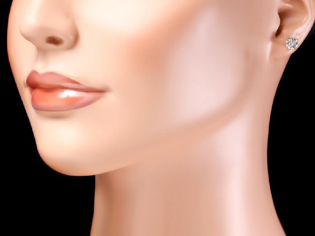 14k White Gold 1.60ct Diamond Earrings - 4