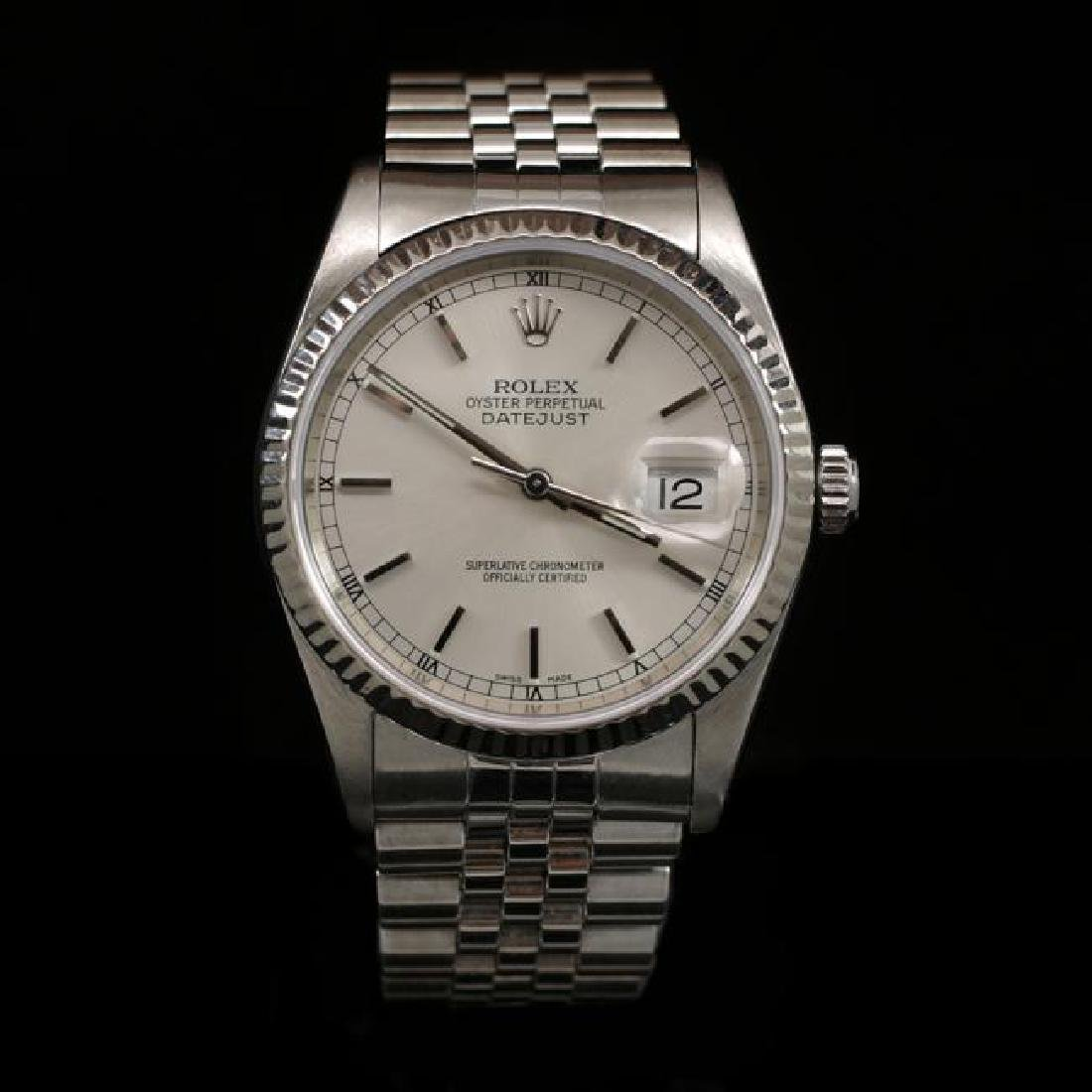 Rolex DateJust SS 36mm Men's Wristwatch