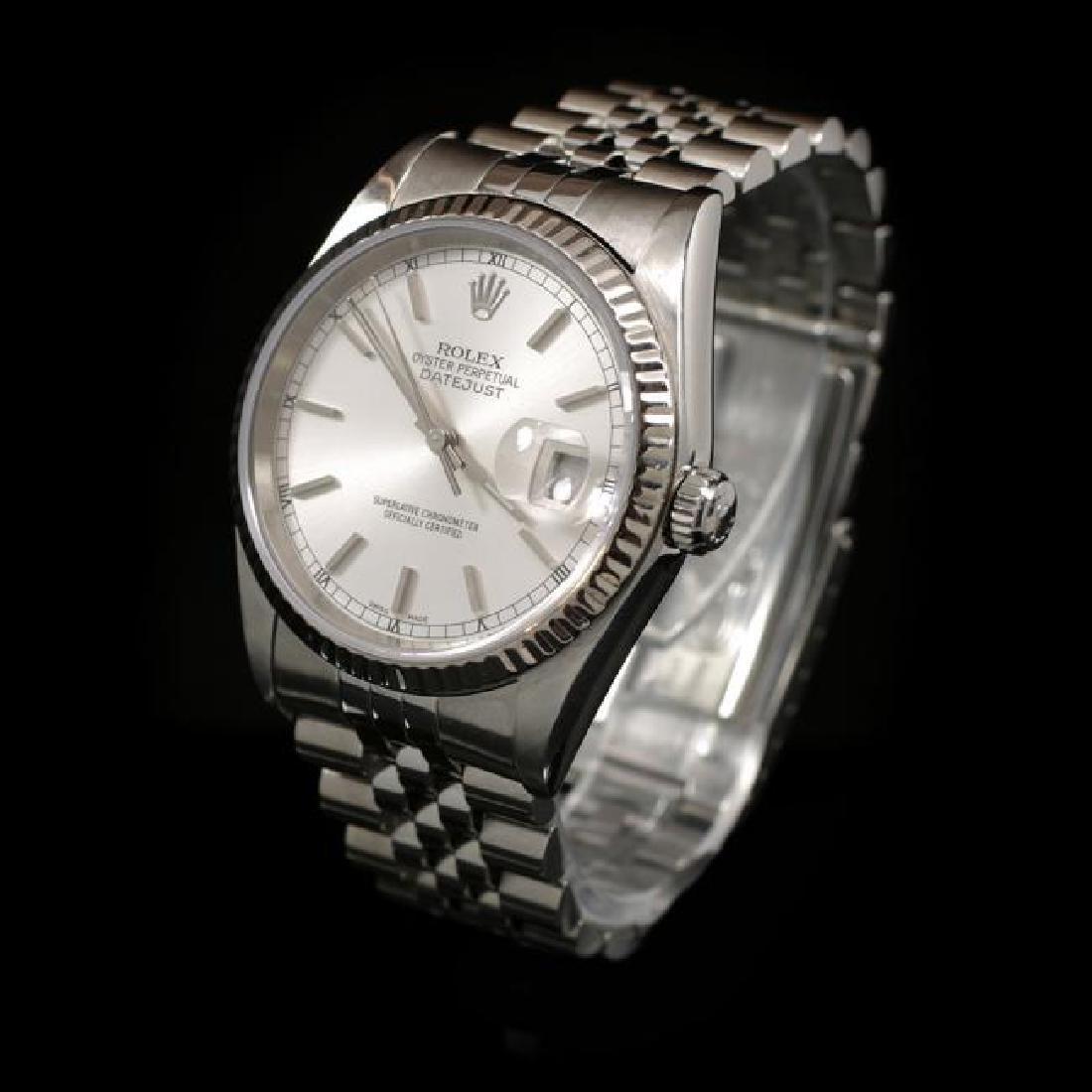 Rolex DateJust SS 36mm Men's Wristwatch - 2